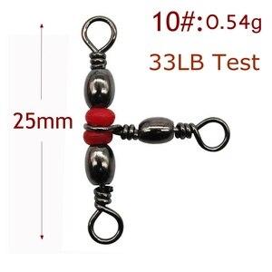 Image 5 - Connecteurs de pêche Snap, accessoire de pêche, 3 voies japon, baril pivotant en laiton, connecteur solide #6 #8 #10, 20 pièces