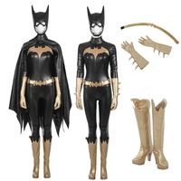 Batwoman Unisex Batgirl Cosplay Costume Jumpsuits Sexy with Cloak Superhero outfit for Halloween Chrimas Costumes