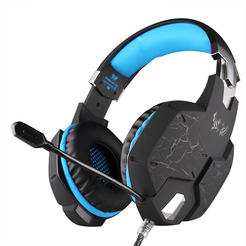 Original KOTION EACH G1100 Professional Gaming Headphone Gamers Headset with Mic Stereo Bass Breathing LED Light for PC Computer rock y10 stereo headphone earphone microphone stereo bass wired headset for music computer game with mic