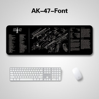 """47 Extended Speed Gaming Mouse Pad AK-47 Mouse Pad Gun Disassembling Rubber Mouse Mat Water Resistant Large Size 36""""x12""""x0.08""""inch (4)"""