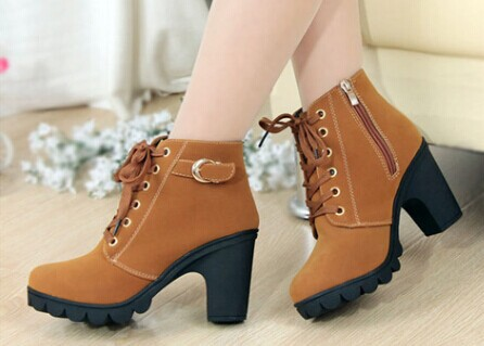 2014 new women pumps, European leather boots lady high heel fashion motorcycle boots, pumps, women's shoes, free shipping