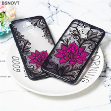 For Huawei Mate 20 Lite Case Silicone Lace Rose Flower Cover Funda BSNOVT