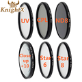 KnightX nd filter 67mm star Lens ND cpl filter Kit set for nikon d3000 d3100 Canon mark 5d iii  uv filter 58mm macro lens 55mm
