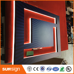 Light box sign stainless acrylic backlit