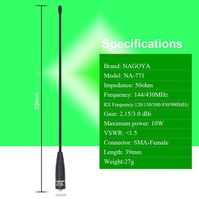 100% Original Nagoya NA-771 Two Way Radio Antenna SMA Female for BaoFeng UV-5R UV-82 BF-888S UV-9R Handheld Transceiver 6