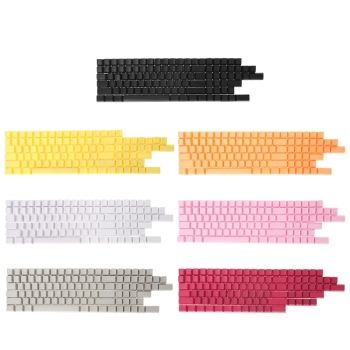 mechanical keyboard pbt white keycap cherry mx oem height black blank pbt 87 keyboard 104 poker 61 keyboard 60% full keyboard Blank 104 Keys Keyboard PBT Keycaps For Cherry MX Keyboard Switch Mechanical Keyboard Replaceable Keycaps