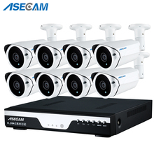CCTV System POE 8CH NVR Kit 48V Power Onvif 1080P 3 array Security Camera System HD IP Camera Outdoor Video Surveillance System стоимость