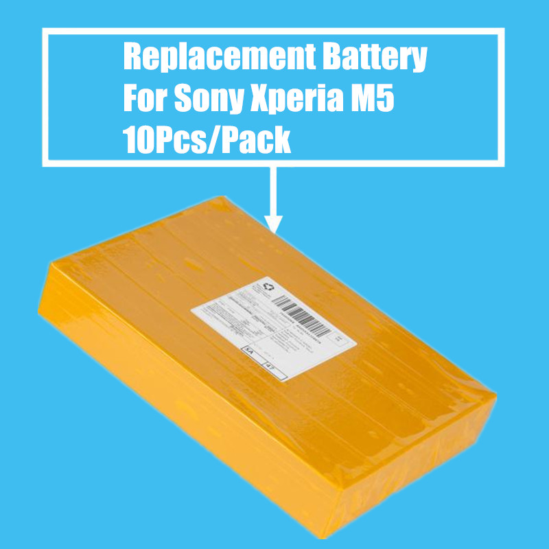 New Arrival 10Pcs/Pack Replacement <font><b>Battery</b></font> 2600mah for Sony Xperia <font><b>M5</b></font> E5633 5606 5663 High Quality