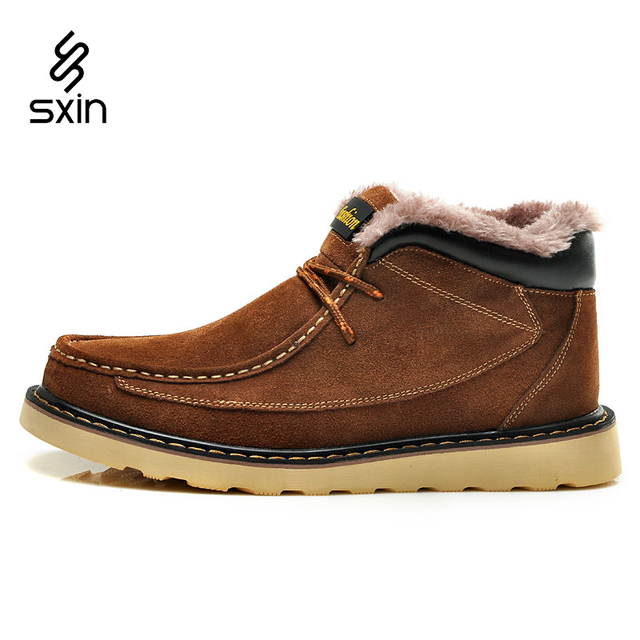 Fashion Genuine Leather Men Boots, Men Casual Shoes Brand Winter Plus Pur Leather Men Shoes, Cowhide Men Ankle Boots Size 38-44