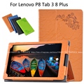 Protective Print Flower Leather Case For Lenovo P8 Tab3 Tab 3 8 Plus TB-8703F/N 8.0 inhc Tablet Printing Pattern Stand Cover