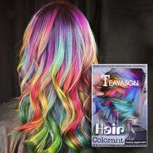24 Цвета одноразового волос временного Цвет краска для волос нетоксичный Сделай Сам DIY бигуди для волос Цвет тушь для ресниц Крем-краска для волос воск синий, серый, фиолетовый, розовый