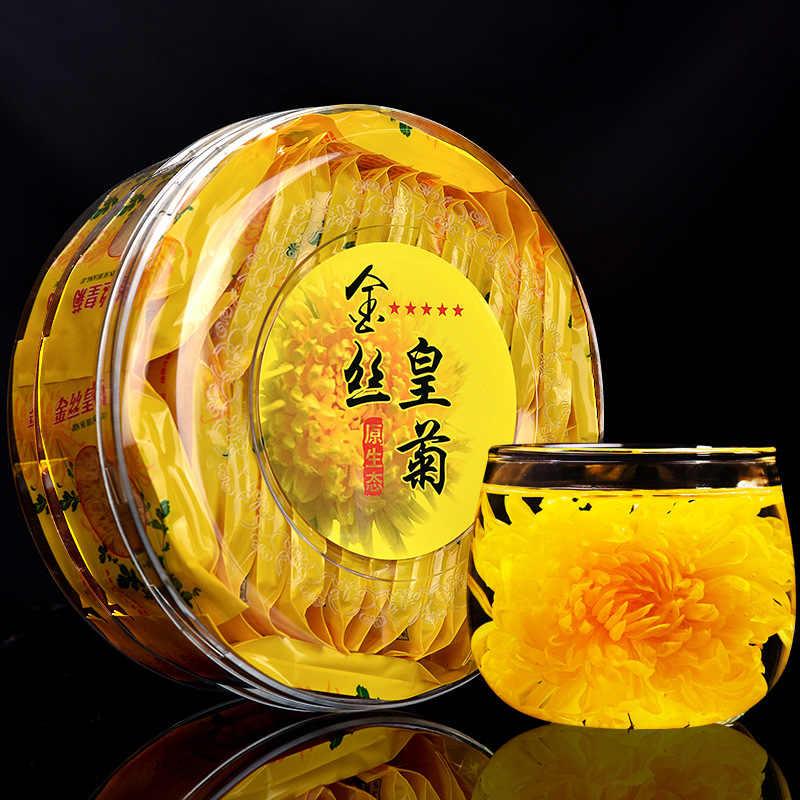 30 пак./кор. коробка Чай с хризантемами золотой шелк Королевский супер премиум