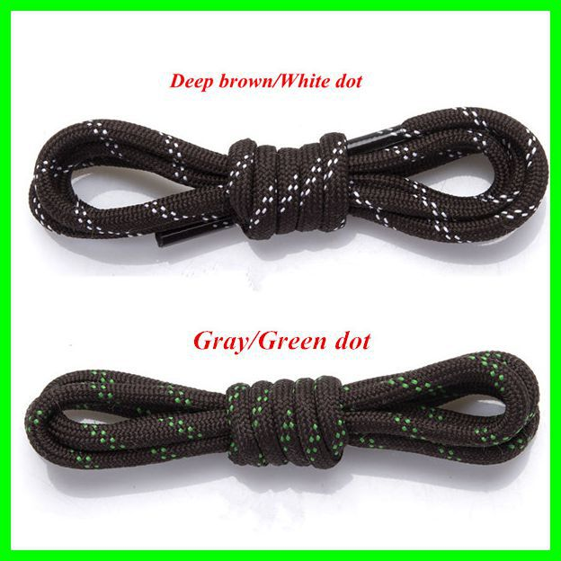 Outdoor Hiking Shoelaces Checkered 140cm Length Shoe Laces Round Rope Shoe Laces One Pair For Sale