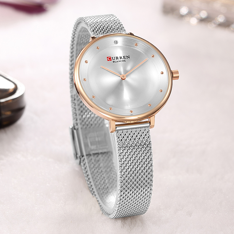 2018 CURREN Women Watches Stainless Steel Luxury Dress Watch Ladies Quartz Analog Waterproof Wrist Watch Montre Femme weiqin angel silver women watches luxury high quality water resistant montre femme stainless steel 2017 dress woman wrist watch