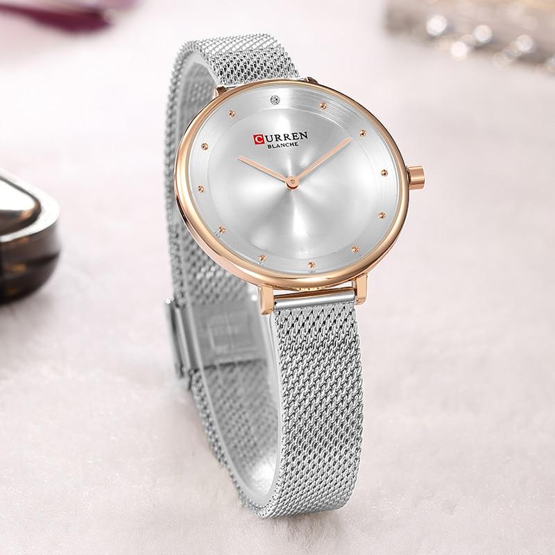 2018 CURREN Women Watches Stainless Steel Luxury Dress Watch Ladies Quartz Analog Waterproof Wrist Watch Montre Femme