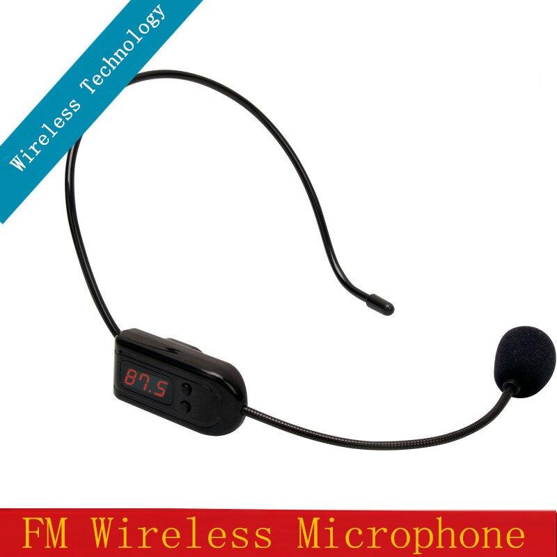Envío gratis FM Micrófono inalámbrico Auricular Megáfono Radio - Audio y video portátil
