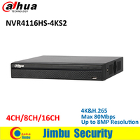 Dahua 4 Channel 1U 4K H 265 Lite Network Video Recorder H 265 H 264 Up