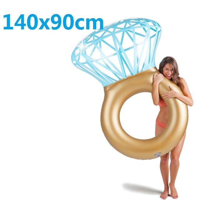 Diamante gigante anel de natação flamingo unicórnio