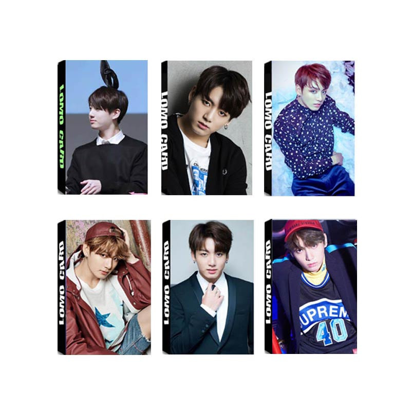 все цены на Youpop KPOP BTS Bangtan Boys Album JUNGKOOK LOMO Cards K-POP New Fashion Self Made Paper Photo Card HD Photocard LK328