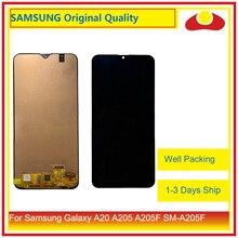 10 ชิ้น/ล็อต DHL สำหรับ Samsung Galaxy A20 A205 A205F SM A205F จอ lcd หน้าจอแผง Digitizer Pantalla ที่สมบูรณ์แบบ