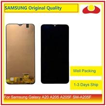 10 Pcs/lot DHL pour Samsung Galaxy A20 A205 A205F SM A205F affichage à cristaux liquides avec écran tactile numériseur panneau approvisionné