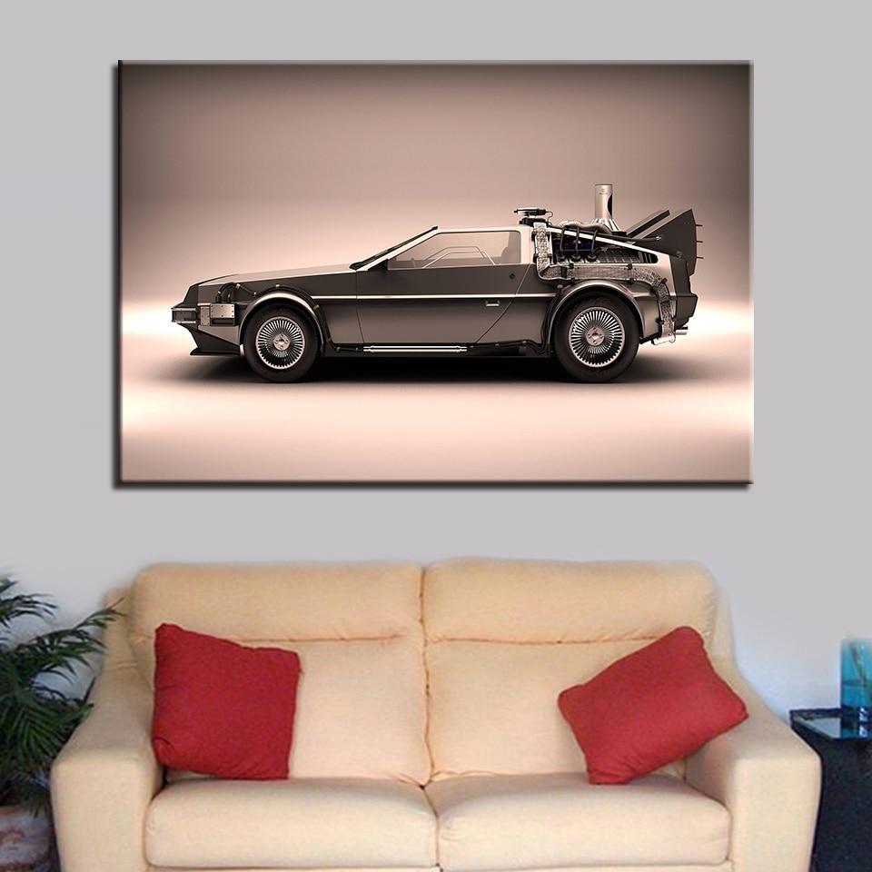 2019 Nieuwe Stijl Wall Art Framework Canvas Pictures Home Decor 1 Piece/pcs Terug Naar De Toekomst Schilderen Voor Woonkamer Hd Prints Movie Auto Poster