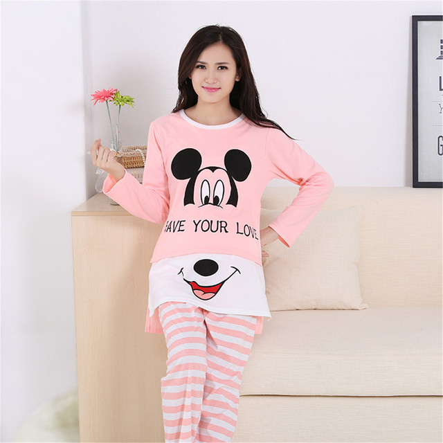2016 Pure cotton Maternity Nursing Pajamas  Spring autumn long Sleeve Maternity Nightgown Sleepwear for Pregnant Women