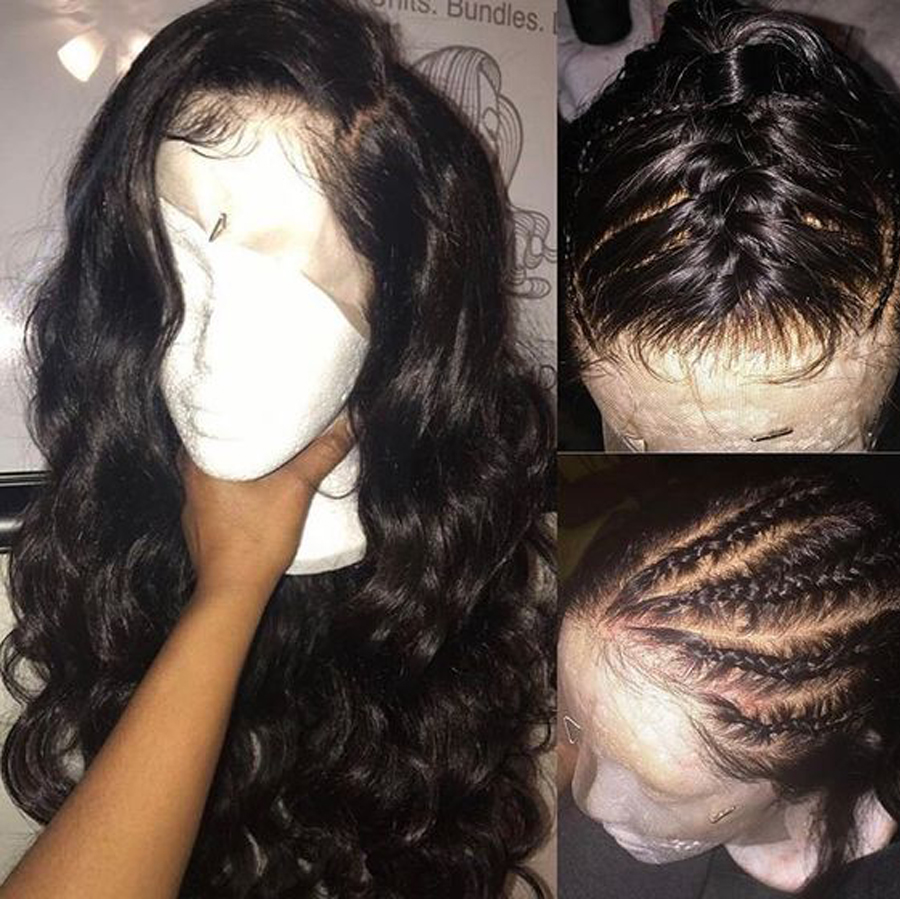 RXY Pre Plucked Full Lace Human Hair Wigs For Women Brazilian Body Wave Glueless Full Lace Wigs With Baby Hair Remy Black Hair (3)