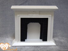 High Quality Dollhouse Miniature  Furniture Wooden  White Fireplace  for Children's Gift  1:12 Scale