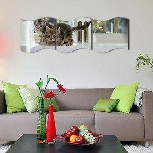 Image 4 - New 3PCS DIY Removable Home Room Wall Mirror Sticker Art Vinyl Mural Decor Wall Sticker vinilos decorativos para paredes