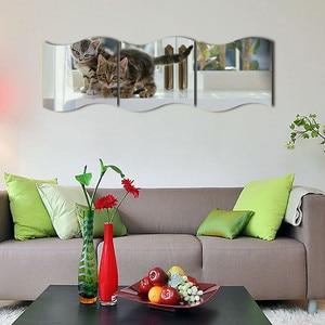 Image 4 - Yeni 3 PCS DIY Çıkarılabilir Ev Odası duvar aynası Sticker Sanat Vinil Duvar Dekor Duvar Sticker vinilos decorativos para paredes