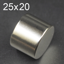 1/2/5/10Pcs 25x20 Neodymium Magnet 25mm x 20mm N35 NdFeB  Round Super Powerful Strong Permanent Magnetic imanes Disc 25x20 цены