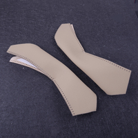 Right&Left Hand Leather Sewing Inner Door Handle Cover Beige Fit for BMW 3 Series E90 E91 E93 2005 2007 2008 2009 2010 2011 2012