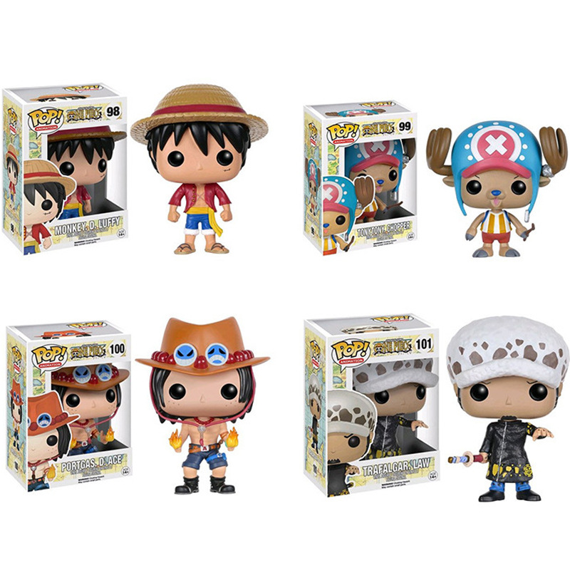 FUNKO POP One Piece MONKEY.D.luffy,Portgas.D.ACE,TRAFALGAR.LAW,Tony Chopper Collection Action Figure Toys For Children Gift