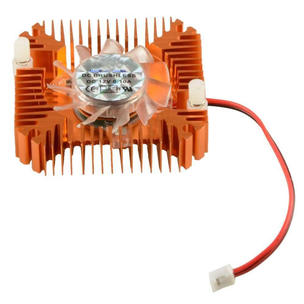 55mm 2 PIN karty graficzne wentylator chłodzący aluminiowe złoto radiator chłodnicy pasuje do osobisty komponenty komputerowe wentylatory chłodnicy VC899
