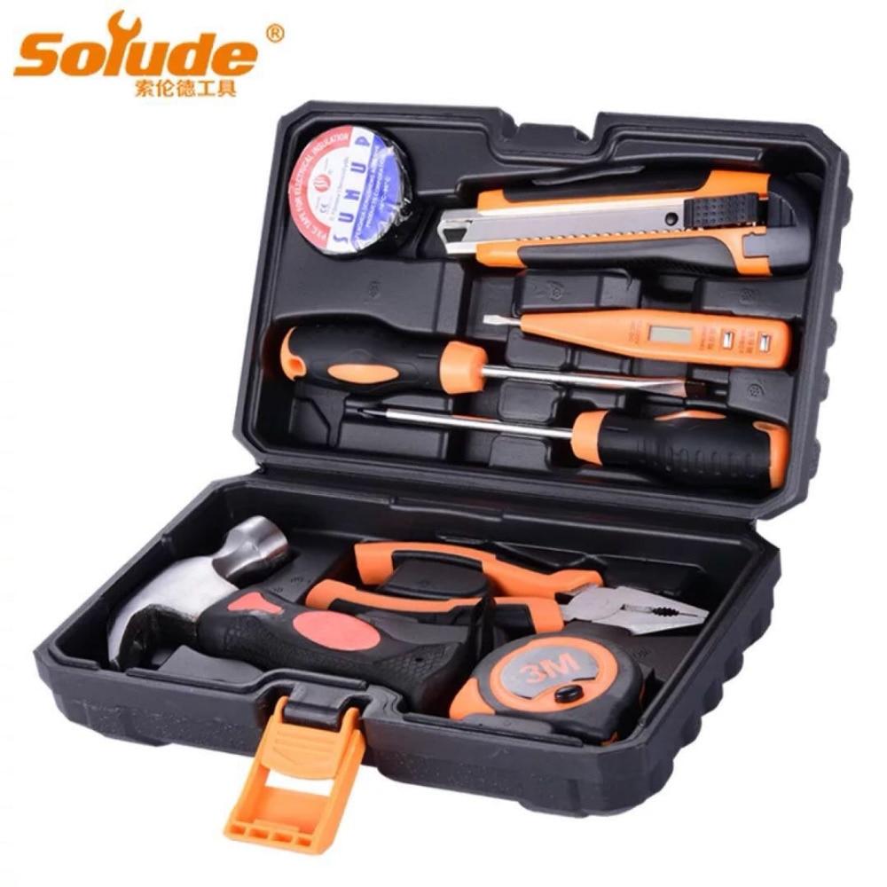 8 pz Home Hardware Strumenti di Riparazione Carpenteria Elettricista Riparazione Set di Strumenti Elettrici Multifunzionale Combinazione Manuale Toolbox Set