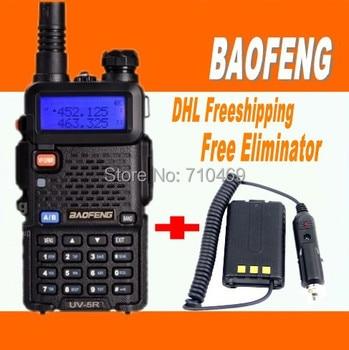 DHL Freeship+Portable BAOFENG uv5r uv-5r handie Talkie dual band Ham Radio+Emergency Alarm  Scanning Function+Free Eliminator telephony
