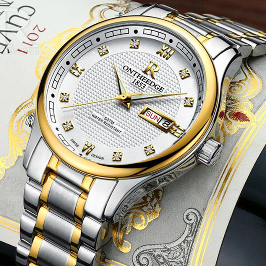 Relogio Masculino Luminous Mens Watches Top Brand Luxury Full Steel Clock Sport Quartz Watch Men Business Waterproof Watch New migeer relogio masculino luxury business wrist watches men top brand roman numerals stainless steel quartz watch mens clock zer