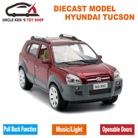 1 24 Scale Hyundai Tucson Model Toys With Pull Back Function Light Sound Diecast Model Metal