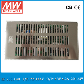 Original MEAN WELL SD-200D-48 Single Output 200W 4.2A 48VDC Input 72~144VDC meanwell dc/dc converter 48V