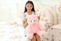 small cute plush bow teddy bear toy stuffed pink bear doll birthday gift about 60cm s2951