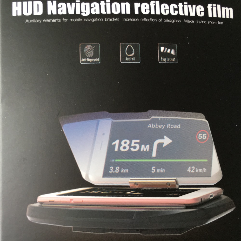 Car Windscreen Projector HUD Head Up Display Mobile Phone Hands Free Navigation Holder Head-up Display For I Phone With Gift
