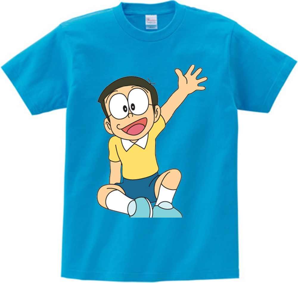 6b7299efc Japanese Tee Shirt Children's Cartoon Doraemon T shirt boy and girl 2018  Summer O-neck