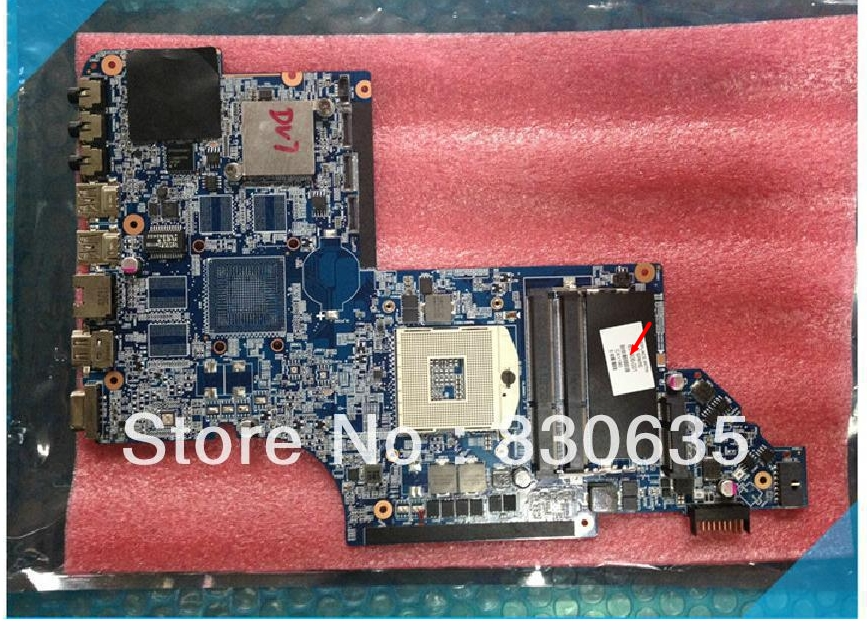 651906-001 lap connect with printer motherboard DV7-6000 I3 I5  full test lap connect board 574680 001 1gb system board fit hp pavilion dv7 3089nr dv7 3000 series notebook pc motherboard 100% working