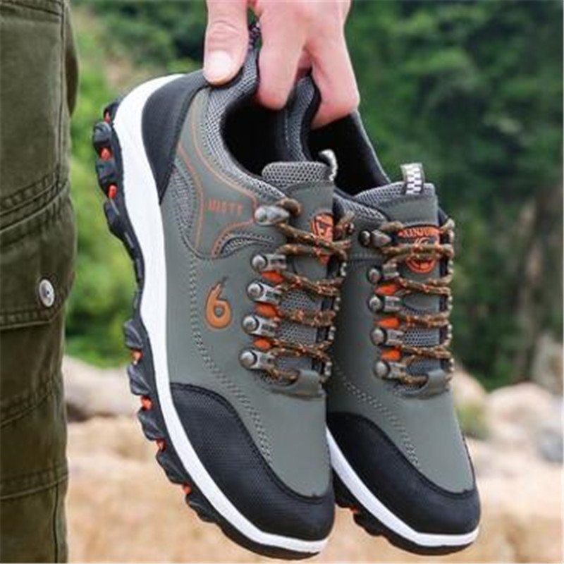 Sneakers men's casual shoes new outdoor shoes travel mountaineering non-slip shock absorber shoes wear low to help walking shoes 3