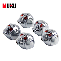 Metal Volume Tuning Knobs For Electric Bass Guitar 5pcs Bag
