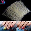 8Pcs Mix Design Gold Silver Metallic 3D Nail Art Stickers Perfect UV Gel Polish Nail Decals