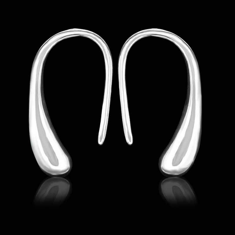 แฟชั่นเงินคริสตัลต่างหูห่วงUประเภทหูหัวเข็มขัดต่างหูสำหรับผู้หญิงสาวพรรคเครื่องประดับจัดงานแต่งงานb rincos