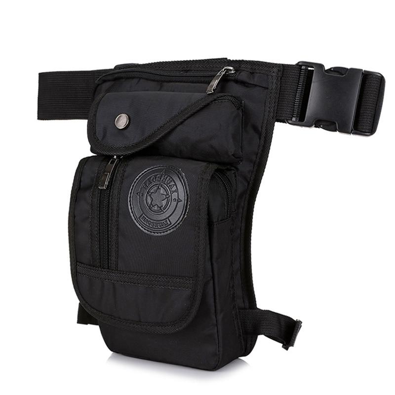 Men Hip Hop Leg Bag Waterproof Nylon Leg Fanny Pack Male Moto & Biker Waist Bags Multi-functional Tactics Belt Bag Travel Pocket