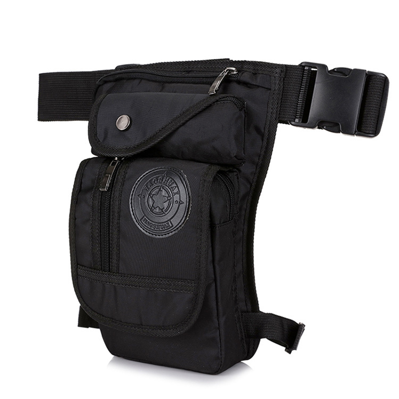 Men Hip Hop Leg-Bag Waterproof NylonLeg Fanny Pack Male Moto & Biker Waist Bags Multi-functional Tactics Belt Bag Travel Pocket